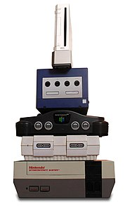Nintendo video game consoles Wikimedia list article
