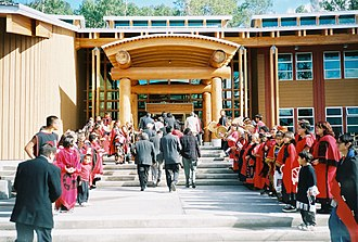 Gitlaxt'aamiks - Dedication ceremonies for the new Nisga'a Lisims Government Building in 2000