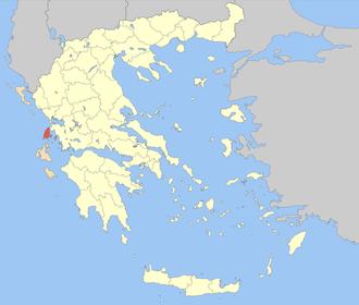Lefkada (regional unit) - Image: Nomos Lefkadas