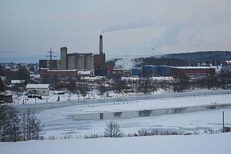 Greåker - Nordic Paper's factory at Greåker, Norway.