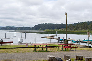 The North Beach recreation area on Siltcoos Lake
