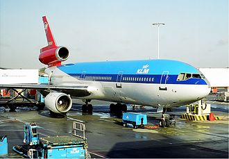 Alcazar (airline) - KLM McDonnell Douglas DC-10 in a hybrid livery with Northwest Airlines