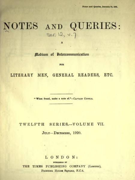 File:Notes and Queries - Series 12 - Volume 7.djvu