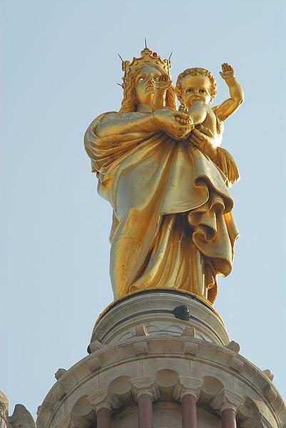 Fichier:NotreDameDeLaGarde Statue1.jpg