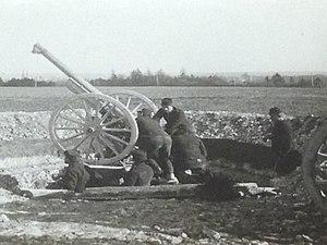 Canon de 75 CA modèle 1940 Schneider - Image: Nouveau canon antiaérien Châlons sur Marne