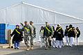 Nursing students visit service members providing medical support at Floyd Bennett Field, New York, N.Y. on Nov. 10, 2012 121110-A-KD443-014.jpg