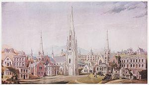 George O'Brien (painter) - O'Brien's watercolour of the designs of R.A. Lawson 1860's