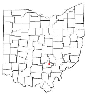 Logan, Ohio - Image: OH Map doton Logan