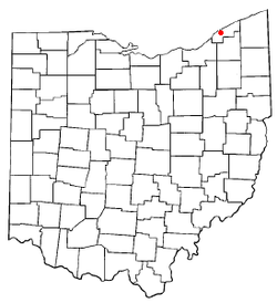 Location of Mentor, Ohio