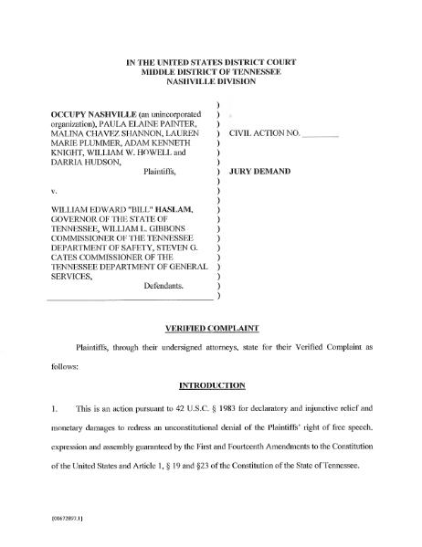 File:Occupy Nashville v. Haslam.djvu