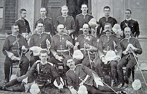 Loyal Regiment (North Lancashire) - Officers of the 1st Battalion, Loyal North Lancashire Regiment, c. 1899.
