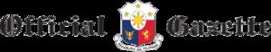 Official Gazette (Philippines) - Image: Official Gazette Philippines title