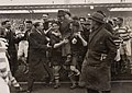 Official Karel Lotsy geëerd na overwinning op Ierland, 1934 - Players celebrate victory over Ireland with official Karel Lotsy, 1934 (4681264357).jpg