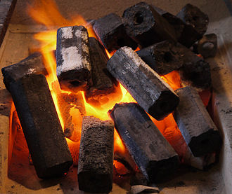 Sawdust - Image: Ogatan(Japanese Briquette Charcoal)