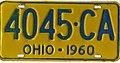 Ohio 1960 license plate - Number 4045-CA.jpg