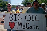 Ohio Union Members Protest at McCain Event in Lima (2755131596).jpg