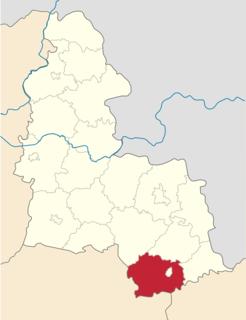 Okhtyrka Raion Subdivision of Sumy Oblast, Ukraine