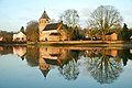 """Old church of Oosterbeek (a battle of Arnhem monument), mirrored in the flooded Rhine river foreland, called PKN """"Oude kerk Oosterbeek"""" The soldiers called it """"Old Kirk"""" - panoramio.jpg"""