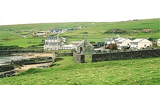 Ollaberry village in the Shetland Islands, Scotland, UK
