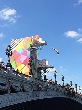 Olympic Days Paris June 2017 - Diving Platform Pont Alexandre-III