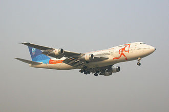 2004 Summer Olympics torch relay - Olympic Torch Relay Jet - Zeus (Registration TF-ARO)