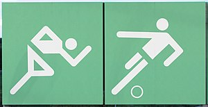 1972 Summer Olympics - Otl Aicher's signage pictograms designed for the Munich Olympic Games