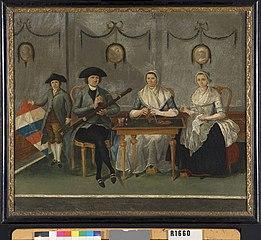 Pieter Houben (1763-1827) en zijn vrouw Anna Maria Strigt, met hun twee kinderen Catharina Habsberger en Gerard Houben (1785-1847)