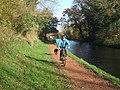 One man and his dog on a towpath - geograph.org.uk - 280839.jpg