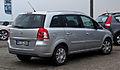 Opel Zafira 1.6 CNG ecoFlex Turbo Design Edition (B, Facelift) – Heckansicht, 9. Juli 2012, Heiligenhaus.jpg