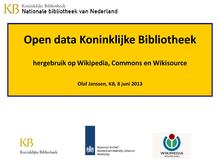 Open Data KB en Wikipedia 8juni2013 OlafJanssen.pdf