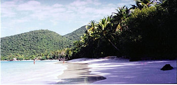 Oppenheimer Beach, in St John, U.S. Virgin Islands.