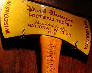 Minnesota–Wisconsin football rivalry - Image: Original 1948 Paul Bunyan's Axe (cropped)