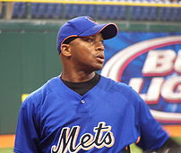 New York Mets general manager Omar Minaya before a Mets/Devil Rays spring training game at Tropicana Field in St. Petersburg, Florida.