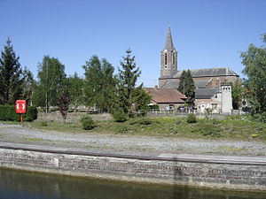 Ors - Center of the village, canal, and church
