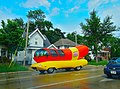 Oscar Mayer's Wienermobile Driving down a Madison Street - panoramio.jpg