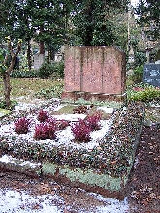 Carl Georg Oscar Drude - Gravesite of Drude at Johannisfriedhof in Dresden.