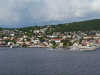 Drøbak - Drøbak seen from the Oslofjord