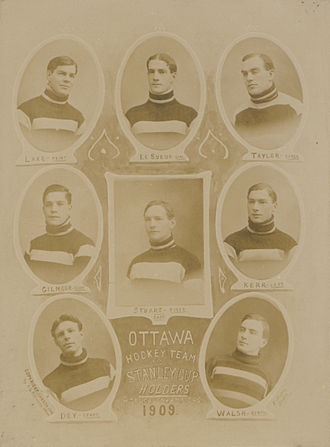Edgar Dey - Edgar Dey, at bottom left, with the 1909 Ottawa Hockey Club.