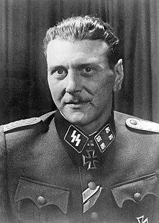 Otto Skorzeny Austrian officer in the German Waffen-SS