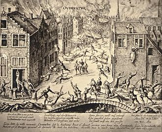 Eighty Years' War (1566–1609) - Oudewater was conquered by the Spanish on 7 August 1575, and most of its inhabitants were killed.