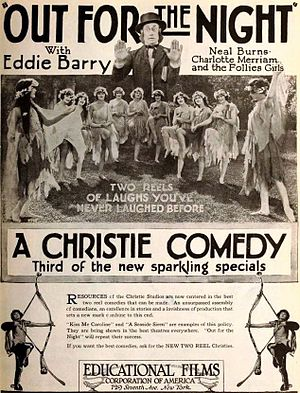 Eddie Barry (actor) - Ad for Out for the Night (1920)