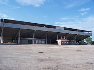 Outagamie County, Wisconsin - Outagamie County Fairgrounds grandstands in Seymour