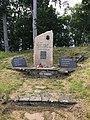Overview of memorial of victim of communism near Church of the Assumption of the Virgin Mary near Chvalčov, Kroměříž District.jpg