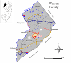 Map of Oxford CDP in Warren County