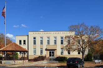 Ozark County, Missouri - Image: Ozark County MO Courthouse 20151021 028