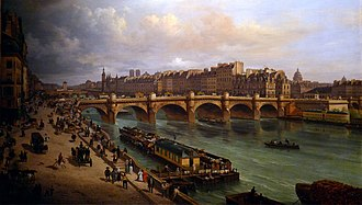 Paris under Louis-Philippe - The Pont Neuf in 1832