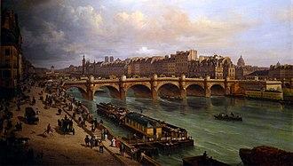 Paris under Louis-Philippe - The Pont Neuf in 1832