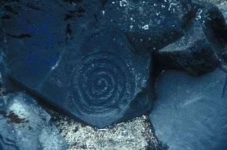 Petroglyph Beach State Historic Park - A petroglyph on the beach