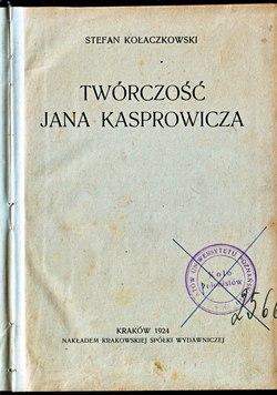 Twórczość Jana Kasprowiczacałość Wikiźródła Wolna Biblioteka