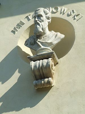 Jan Tarnowski - Bust of Tarnowski on the Krasiński Palace in Ursynów.